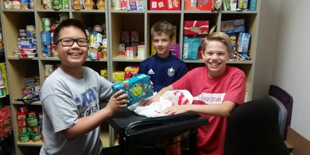 Students take part in Backpack Buddies