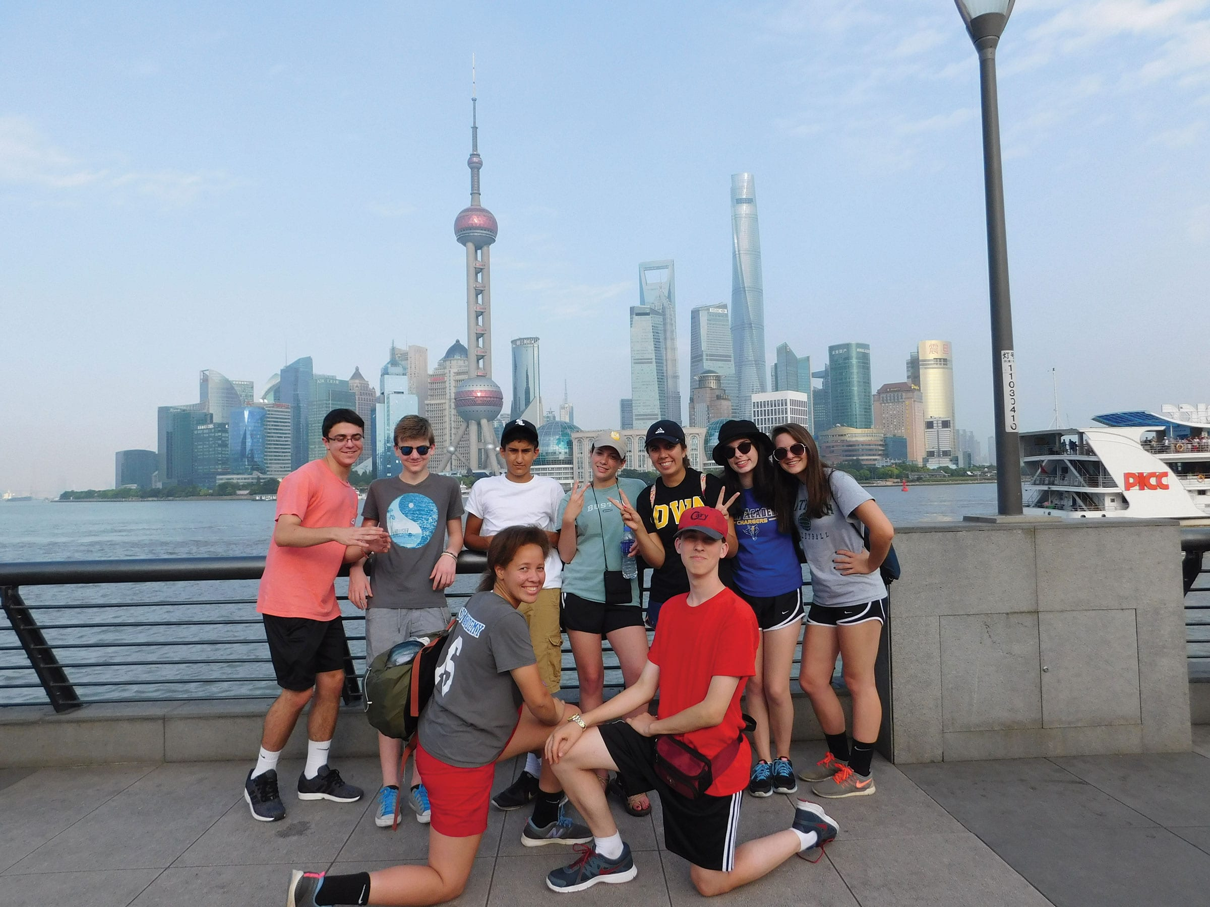 World Languages Exchange students in China