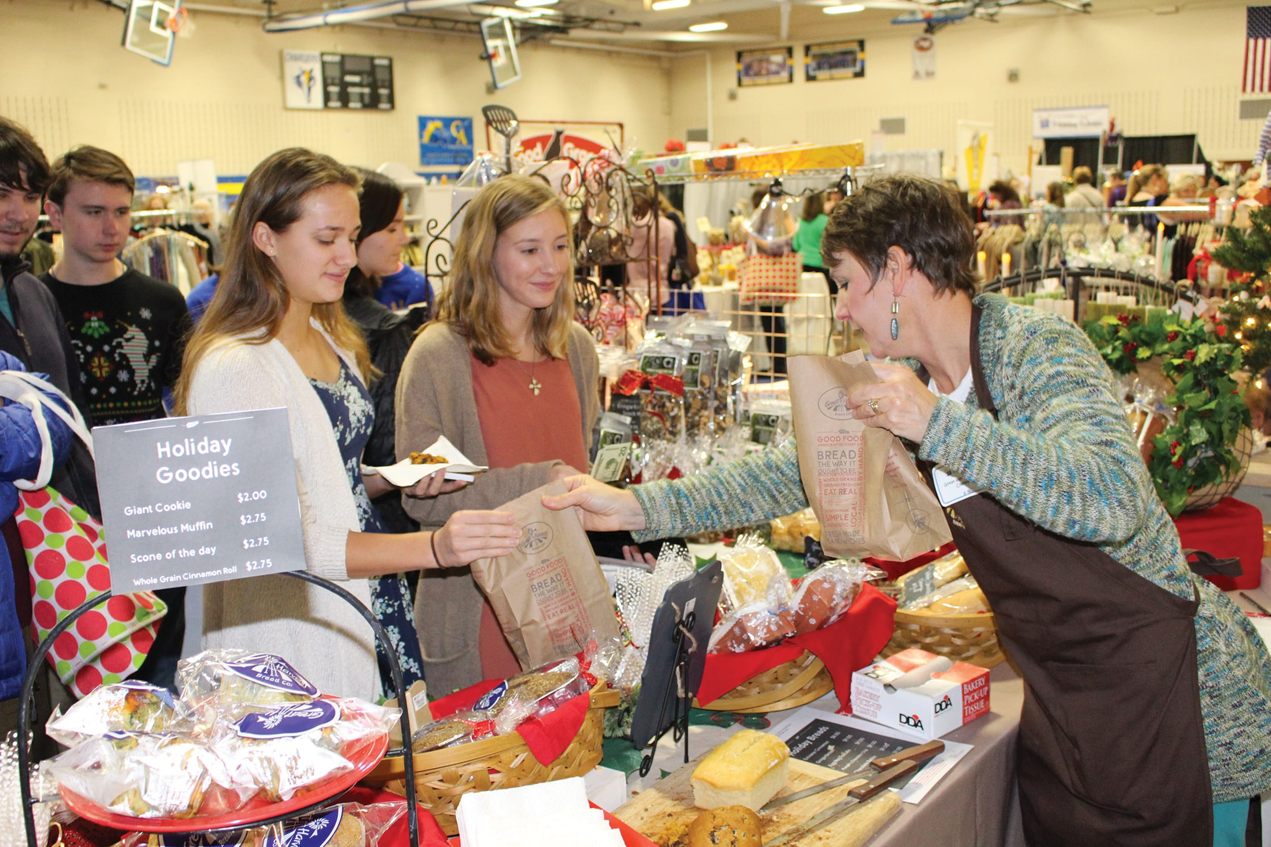 Shoppers at the Holiday Shoppe Fundraiser
