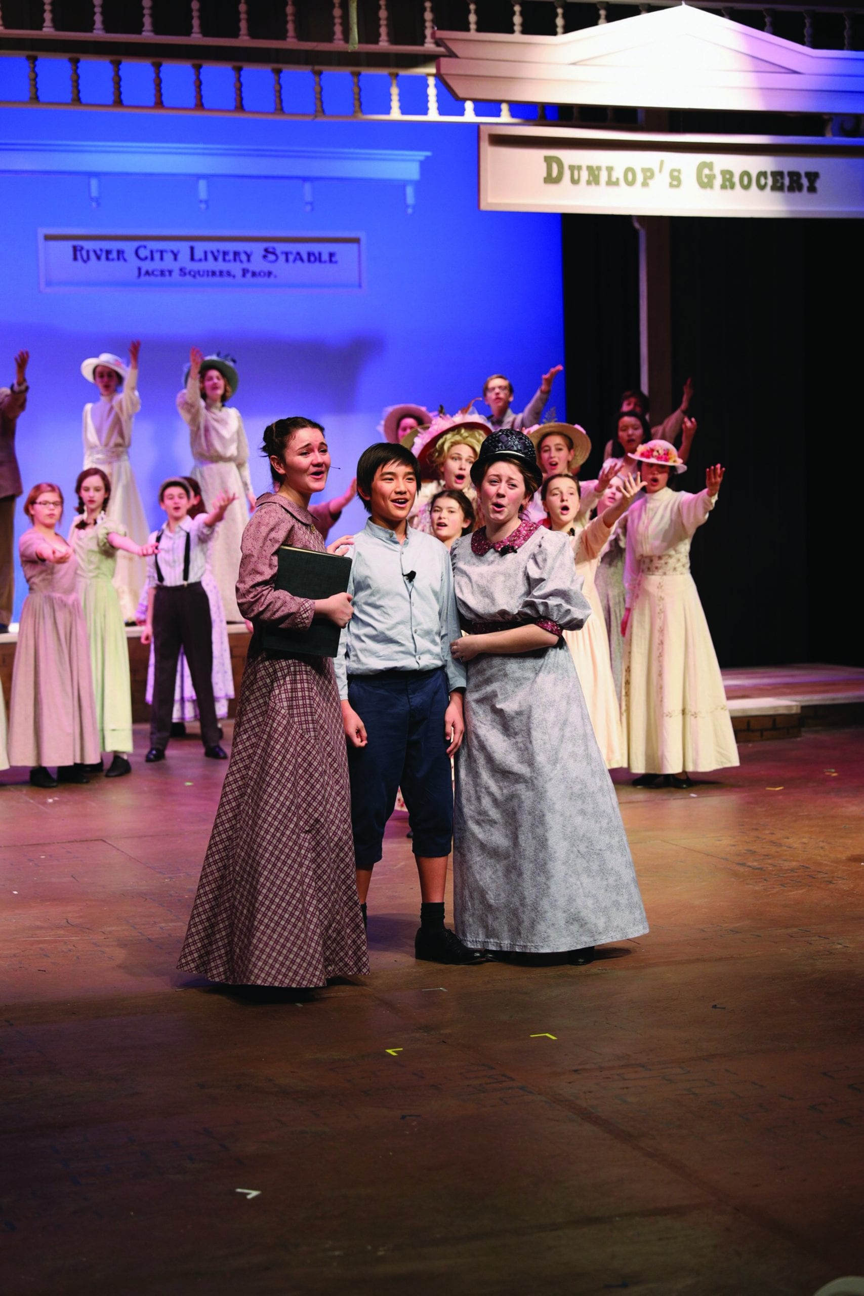 all-school production of The Music Man