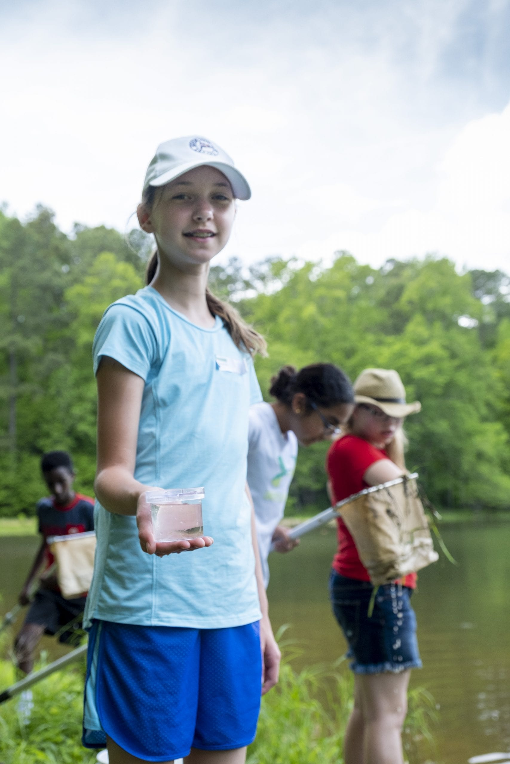 6th grade water samples at Umstead State Park
